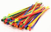 Mixed Color Plastic Tie Wrap / Cable Tie (100) Small Size