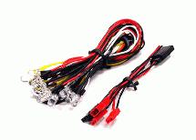 LED Light Set System for 1/10 Touring Car (6V) 4 White, 4 Red & 2 Orange LEDs