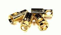 6mm Gold Bullet Banana Connector Power Plug Set (4) for RC