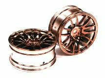 14 Spoke Bronze Tone Wheel Set (2) for 1/10 Drift and Touring Car