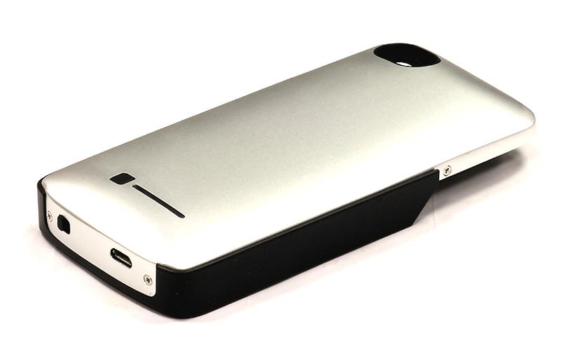 Alloy Protective Back-Case w/ External Battery 1800mAh Add-On for iPhone4 Series