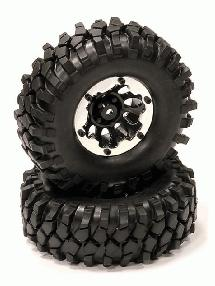 10H Composite 1.9 Wheel w/ Alloy Ring & Tire (2) for Scale Crawler (O.D.=105mm)