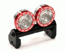 Alloy Roof Top Spot Light Set (2) LED White w/ Metal Housing for 1/10, 1/8 & 1/5