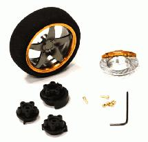 Evolution VIII Steering Wheel Set for Most HPI, Futaba, Airtronics, Hitec & KO