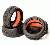 25mm Width V-Radial (4) Tire + Insert for 1/10th Touring Car