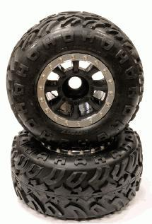 8R Spoke Beadlock 40 Size X-Wide 23mm Hex Crawler Wheel + Tire (2) (O.D.=185mm)
