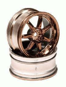7 Spoke Bronze Tone Wheel Set (2) for 1/10 Drift and Touring Car