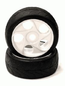 Mounted Tire, Wheel & Insert X803 Style w/ 17mm Hex for 1/8 Buggy Size