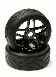Mounted Tire, Wheel & Insert H831 Style w/ 17mm Hex for 1/8 Buggy Size