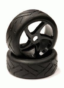 Mounted Tire, Wheel & Insert H832 Style w/ 17mm Hex for 1/8 Buggy Size