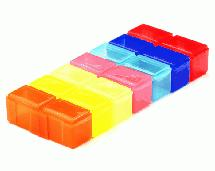 Multicolor Plastic Storage Box for Parts & Hardware w/ 14 Compartments