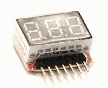 Type II Digital Voltage Checker for LiPo Battery 1S-6S Packs 2.8V-25.2V