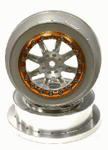 Billet Machined T1 Front Alloy Wheel (2) for Axial EXO Terra Buggy