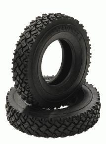 T2 All Terrain Narrow Front/Rear Rubber Tire HD(2) for Tamiya 1/14 Tractor Truck