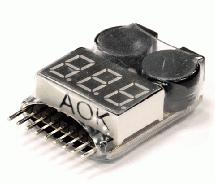 AOK-BL8S LiPo Voltage Checker + Warning Buzzer