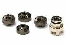 Realistic Locking Wheel Nuts (4) w/ Tool for Drift Racing and 1/10 Touring Cars