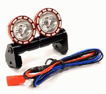 Alloy Roof Top Spot Light Set (2) LED Blue w/ Metal Housing for 1/10, 1/8 & 1/5