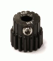 Billet Machined Hard Anodized Aluminum 48 Pitch Pinion 16 Teeth for 0.125 Shaft