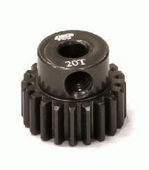 Billet Machined Hard Anodized Aluminum 48 Pitch Pinion 20 Teeth for 0.125 Shaft