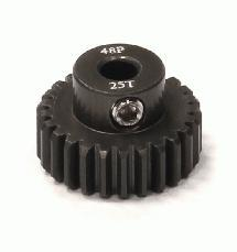 Billet Machined Hard Anodized Aluminum 48 Pitch Pinion 25 Teeth for 0.125 Shaft