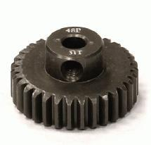 Billet Machined Hard Anodized Aluminum 48 Pitch Pinion 31 Teeth for 0.125 Shaft