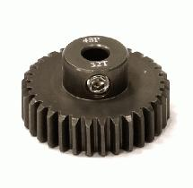 Billet Machined Hard Anodized Aluminum 48 Pitch Pinion 32 Teeth for 0.125 Shaft