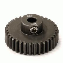 Billet Machined Hard Anodized Aluminum 48 Pitch Pinion 34 Teeth for 0.125 Shaft