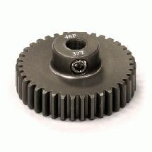 Billet Machined Hard Anodized Aluminum 48 Pitch Pinion 37 Teeth for 0.125 Shaft