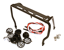 T10 Realistic 1/10 Scale Metal Frame with 4 LED Adjustable Spot Light 88x141mm