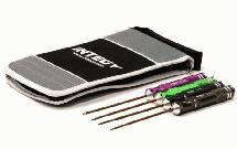 UltraGrip 4pcs Spring Steel Standard Size Allen Hex Wrench Set w/ Carrying Case