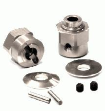 Billet Machined Hex Wheel Hub Set (2) +5 Offset for Axial Wraith