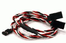 RX-Futaba Type Y-Extension 600mm 22AWG Servo Twisted Style Wire
