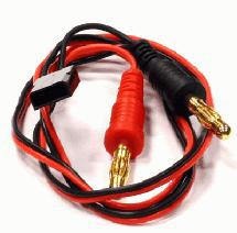 RX-JR Type Battery Charging Cable w/ Banana Plugs 600mm 22AWG Wire