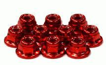 Color Flanged Lock Nut (10) 3mm Size