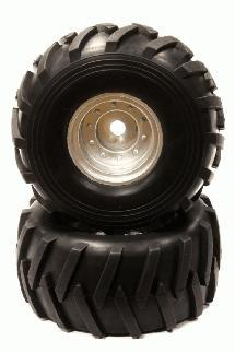 Realistic 1/8 Monster Truck Wheel & Tire (2) for 17mm Hex (O.D.=181mm)