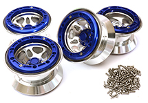 Billet Alloy Type IX 5S Beadlock 2.2 Wheel (4) Set for 1/10 Rock Crawler