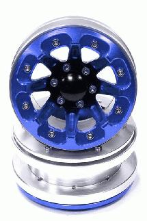 Billet Machined 8 Spoke AQ Style (2) Off-Road 1.9 Size Wheel for Scale Crawler
