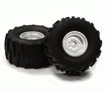 Realistic 1/10 Monster Truck Wheel & Tire (2) for 12mm Hex (O.D.=136mm)