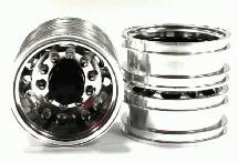 Machined Alloy Rear Dually Wheel Type 12R Set (2) for Tamiya 1/14 Scale Trucks