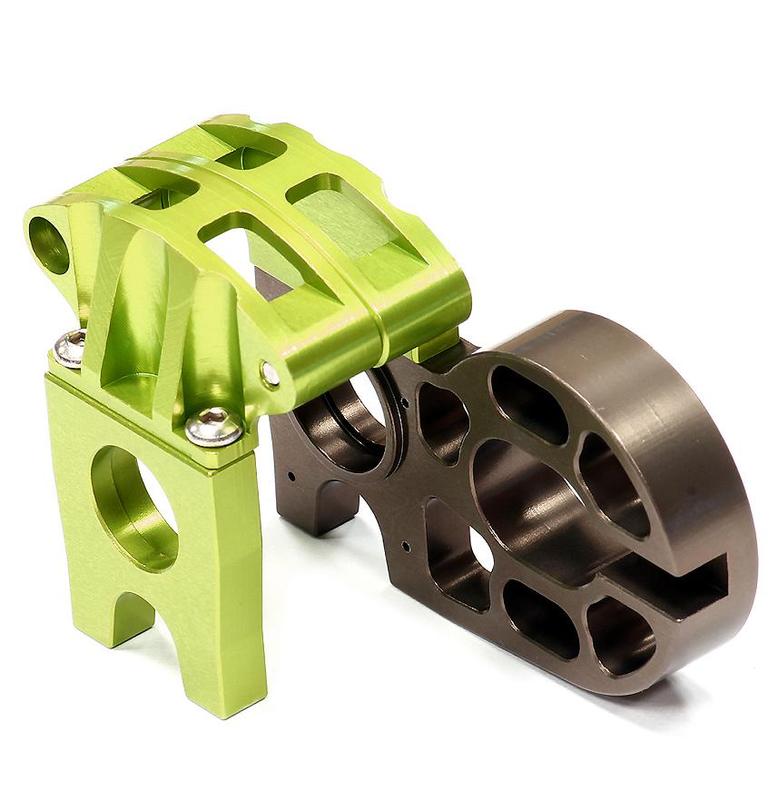 C24694green Billet Machined Center Motor Mount For Axial 1