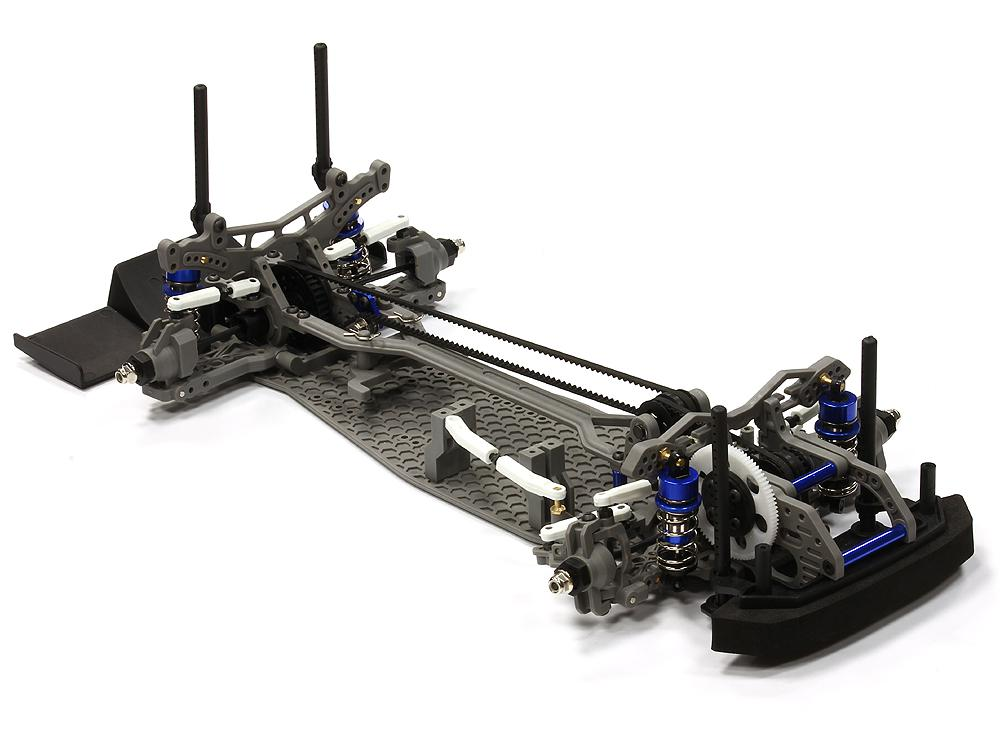 Dual Belt Drive Front Motor Drift Car Kit 1/ 10 Scale by RC ...