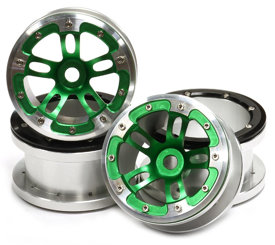 Axal And Wheel : C green integy alloy dual beadlock wheel for axial