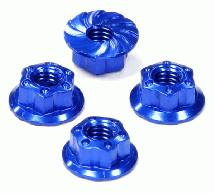 Realistic Billet Machined M4 Size Serrated Wheel Locknut