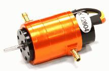 2040 Size Brushless 2604Kv Motor w/ Water Jacket, 2.0mm Shaft for RC Boat
