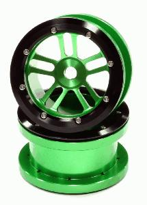 Billet Machined Alloy T2 Dual 5 Beadlock Wheel (2) for Axial Wraith w/ 12mm Hex
