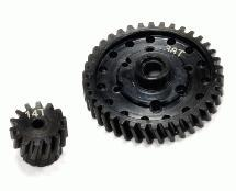 Billet Machined Steel Gear Set 38T+14T for Axial 1/10 Off-Road EXO Terra Buggy
