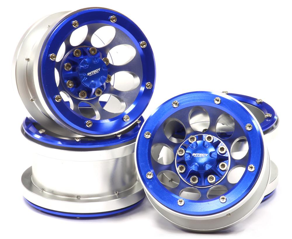 2.2 Size Billet Machined Alloy 9H Beadlock Wheel (4) for Scale Off-Road Crawler