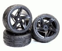 Type RK Complete Wheel & Tire Set (4) for 1/10 Touring Car