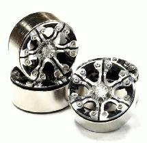 High Mass 1.9 Size Alloy 6 Spoke Beadlock Wheel (4) for Scale Off-Road Crawler