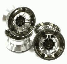 High Mass 2.2 Size Alloy D6 Spoke Beadlock Wheel (4) for Scale Off-Road Crawler